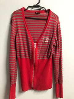 Red Cardigan Guess