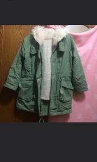 🚚 綠長版外套