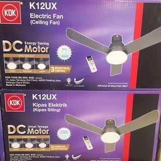 "KDK K12UX 48"" 3 blade Ceiling fan With LED"