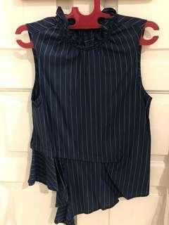 Josephine anni navy stripes top