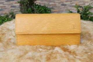 Louis Vuitton Yellow Epi Wallet