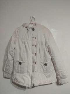 🚚 米白色鋪棉厚外套 售160含運