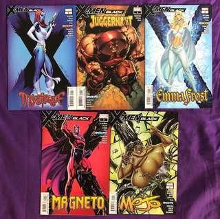 X Men: Black (All covers by J Scott Campbell) - Marvel Comics