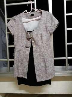 Lver blouse and skirt