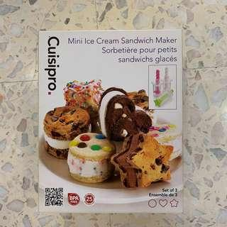 Mini ice cream sandwich maker