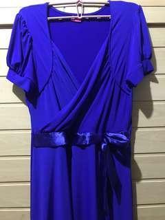 Royal Blue Formal Cocktail Dress