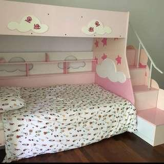 Pink bunk bed frame - FREE