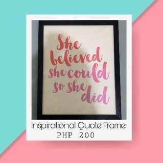 🌸Inspirational Quotes Frame Display🌸