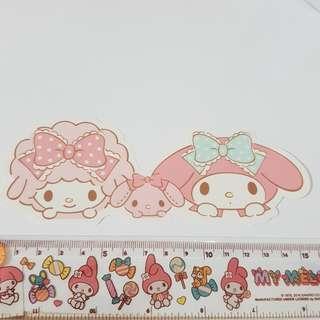 A. Sanrio Original My Melody & Sweet Piano Decoration Sticker