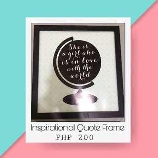 🌸Inspirational Quote Frame🌸
