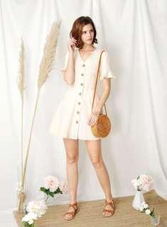 🚚 Andwelldressed Destiny Button Down Flared Dress (Apricot)