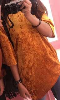 Monki oversized velvet top