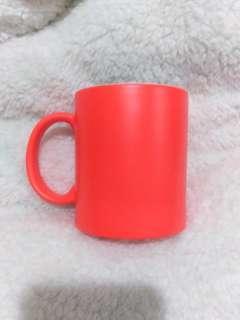 Plain Neon Orange Mug