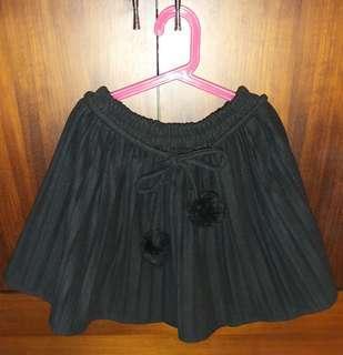 🚚 毛料百折裙