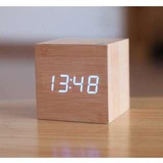 Jam Digital LED Kayu / Wooden Clock