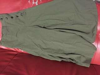 BN JAPANESE MILITARY GREEN WIDE PANTS