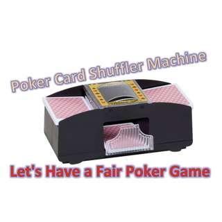 🚚 1-2 Decks Poker Card Shuffler Automatic Machine (Black)