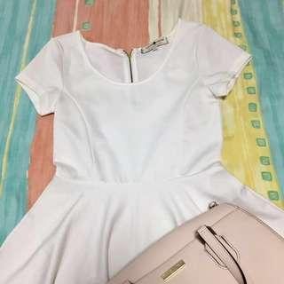 Cache Cache White Skater Dress