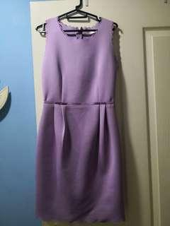 BYSI purple pencil work dress