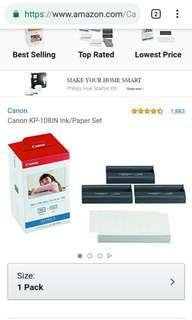 Canon compact photo printer colour ink