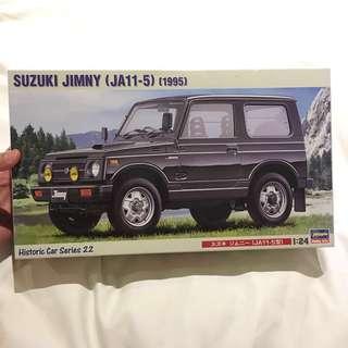 Suzuki jimny JA11-5 year 1995 1:24 scale hasegawa model kit ( Not Bandai) 4 wheel drive 4WD car vehicle collectible vintage
