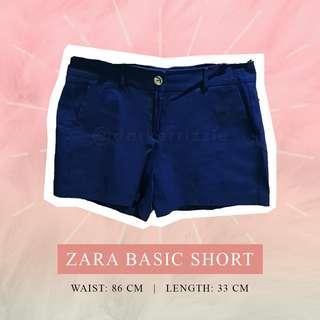 Zara Basic Navy Shorts