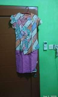 Batik peplum pinky