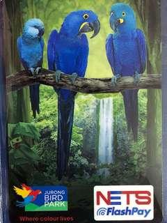 Limited edition brand new Jurong Bird Park design nets flash pay card with nice collectible folder for sale .