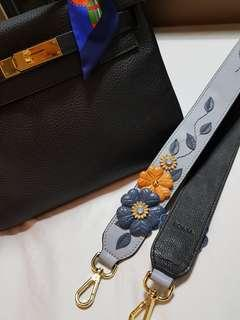 Bonia full leather bag strap with GHW