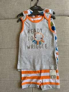 BN Mothercare sleeveless unisex 4 pcs set - 24-36mth