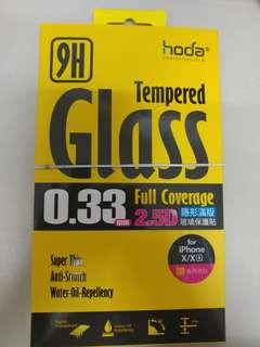 Iphone X/Xs hoda 0.33mm 2.5D隱形玻璃保護貼 tempered Glass