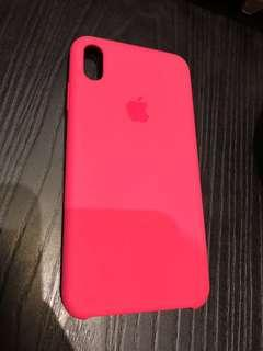 Original iPhone XS Max Silicone Case Pink Hibiscus