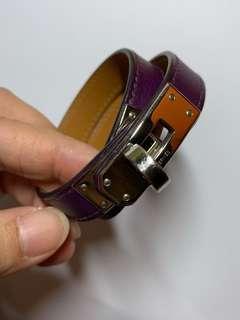 Hermes Kelly Double Tour Bracelet (Purple)