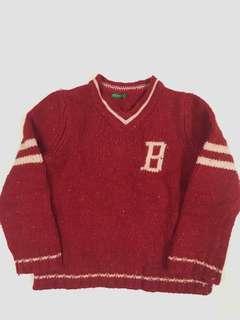 小童紅色冷衫