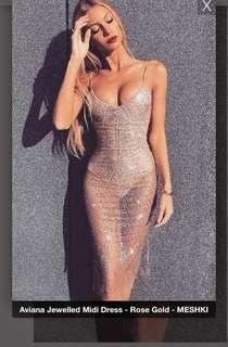 Meshki Aviana Jewelled Midi Dress BNWT