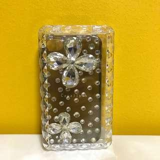 Crystal-Studded Flower iPhone 4/4S Case