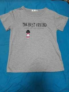 """""""THE BEST FRIEND Hope can be together"""" Grey Tee"""