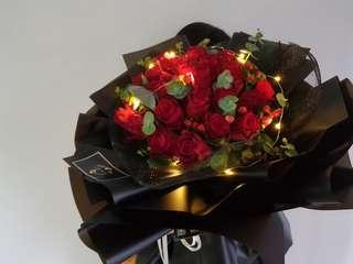 Rose Bouquet - 33 stalks