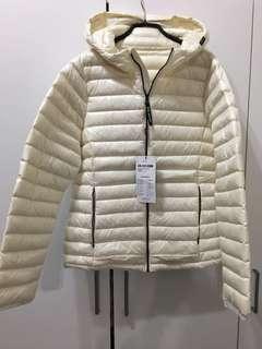 轉賣全新專櫃5th STREET羽絨外套米白色L號女版
