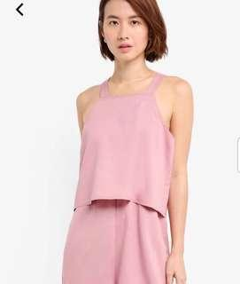 BNWT ZALORA playsuit in pink