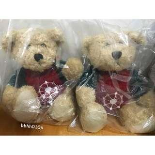(全新) 美麗華 Miramar 2入 泰迪熊