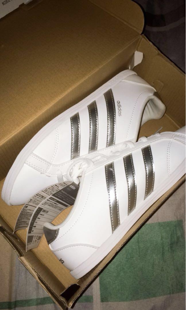 af6b044e299782 Adidas NEO CONEO QT METALLIC SILVER
