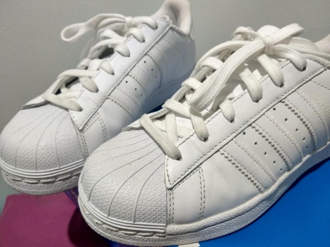 Adidas Originals Superstar All White Sneakers