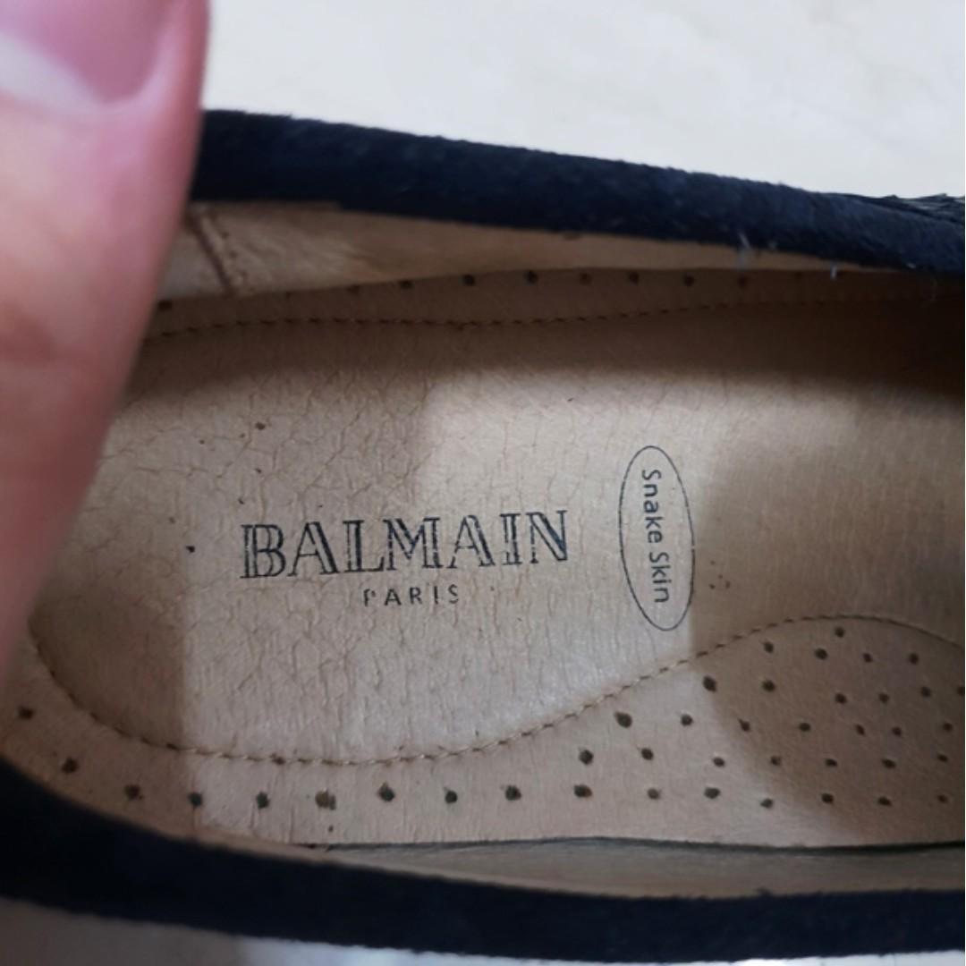Balmain snake skin original not gucci hermes bally bottega LV prada tods