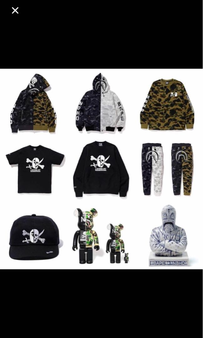 dc8dc78b8459 Bape x neighborhood collection orders