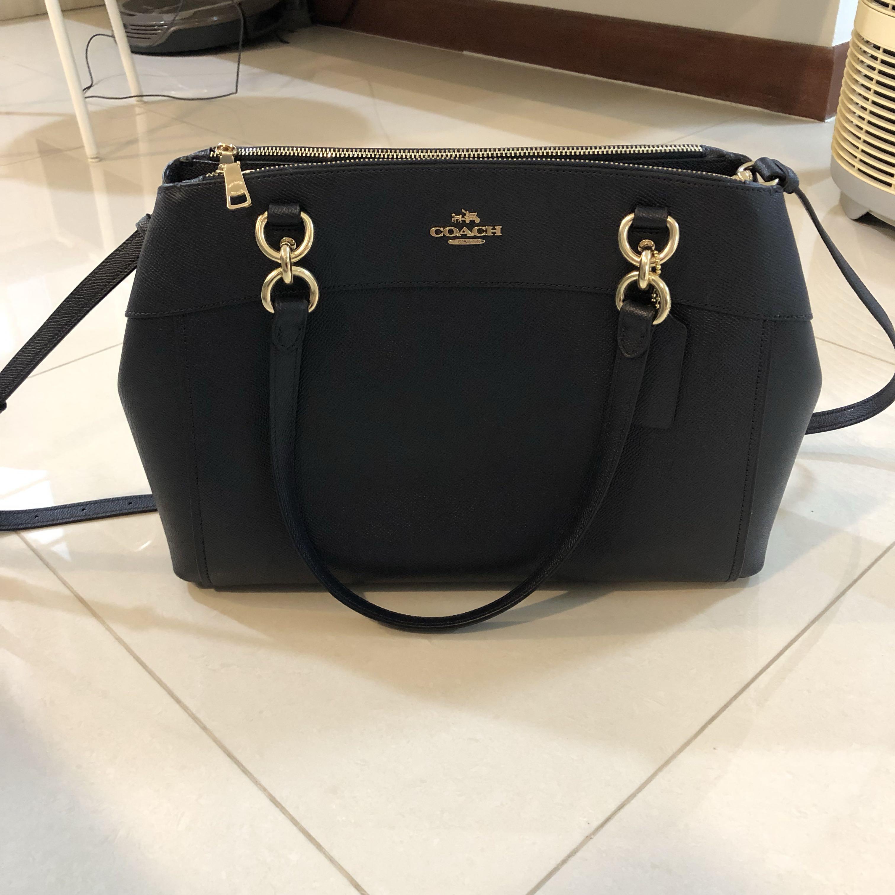 02edb59a7 Black Coach Sling Bag / handbag, Luxury, Bags & Wallets, Handbags on  Carousell