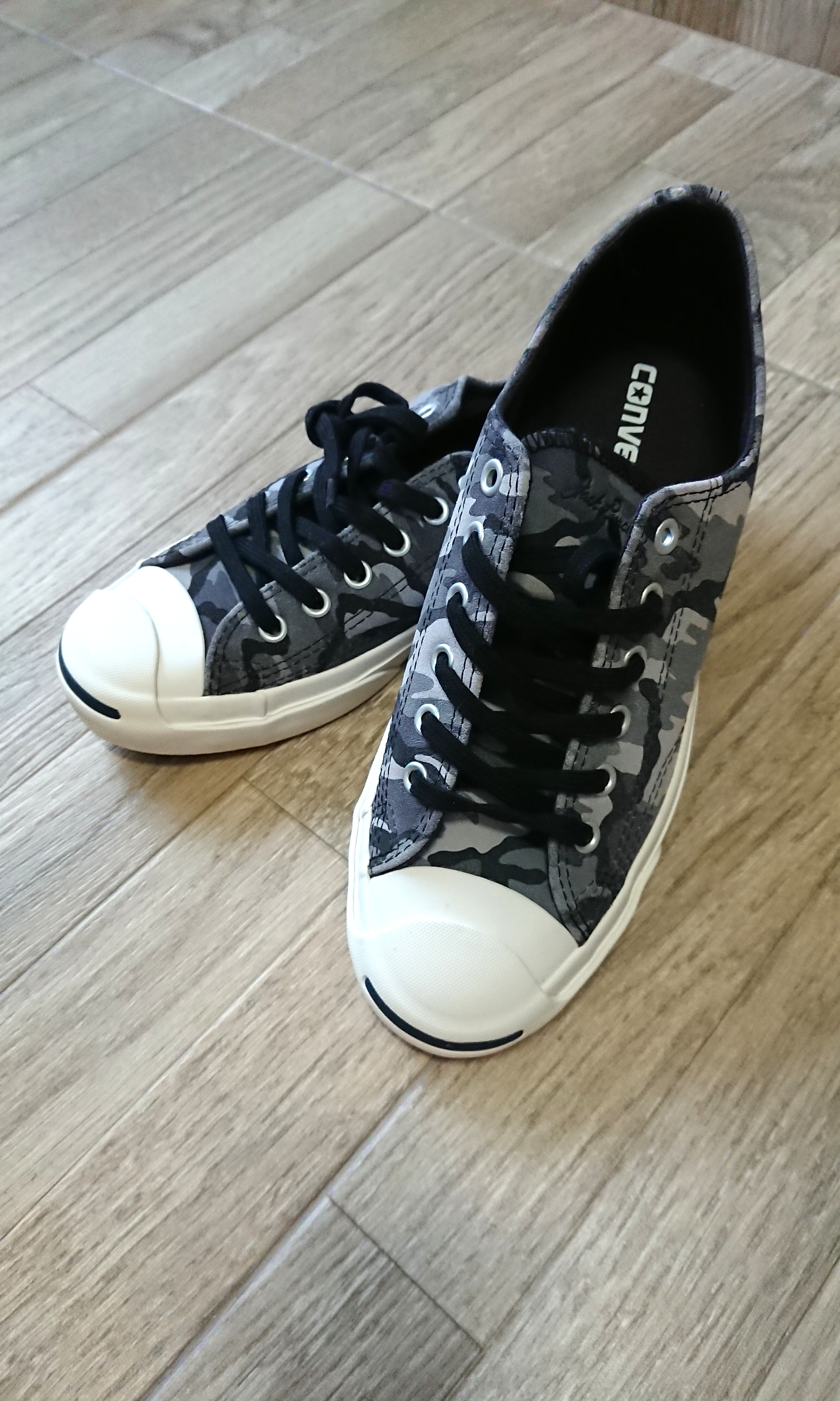 3bc648c4c929 BNIB Converse Jack Purcell Grey Camo Sneakers