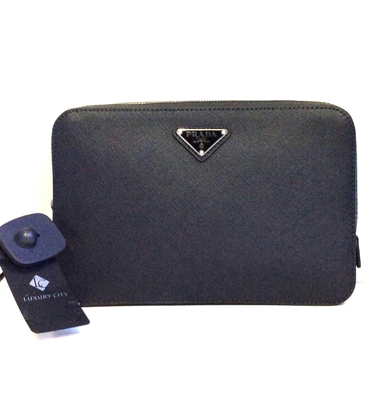 f8312eb7e1c5 BrandNew Prada structured Logo Pouch, Men's Fashion, Bags & Wallets ...