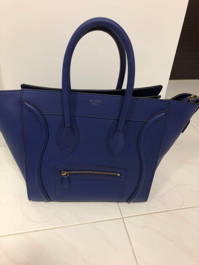 30b3cfb720 Celine mini luggage in cobalt blue