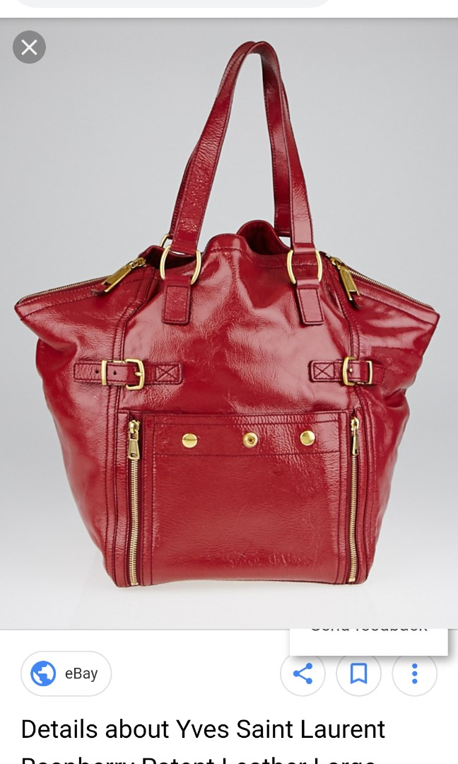 Yves Saint Laurent Raspberry Patent Leather Large Downtown Tote Bag ... e9484c9eb8f93